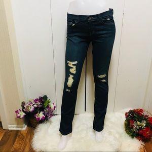 J Brand Distressed Slim Leg Torn DKV Jeans Size 28